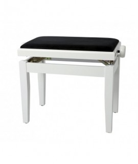 Banquette Piano Deluxe Blanc Brillant