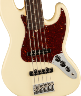 American Professional II Jazz Bass® V, Rosewood Fingerboard, Olympic White